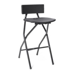 Rental store for Folding  Black Bar Stool in St. Louis MO
