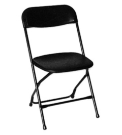 Rental store for Folding  Black Plastic Chair in St. Louis MO