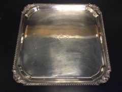 Rental store for Small Square Silver Tray in St. Louis MO