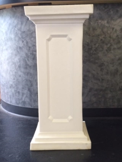 Rental store for White Square Pedestal -37 Tall in St. Louis MO
