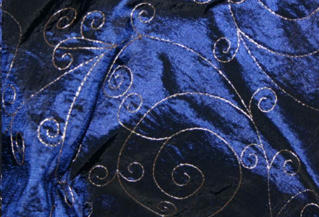 Where to find Navy Taffeta Platinum Emb. in St. Louis